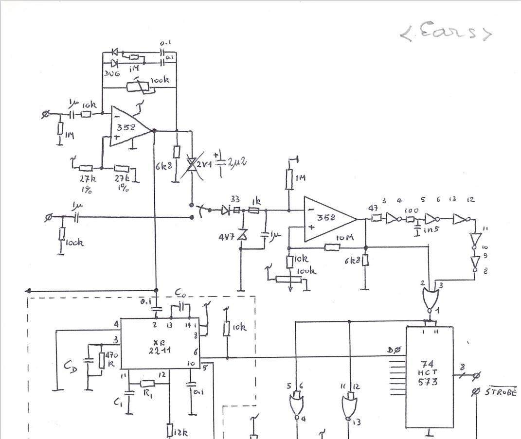 Detail van een schema voor 'An Ear For'